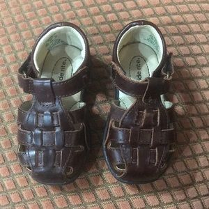 Stride Rite Harper Boys XW 6 Upper Leather Shoes